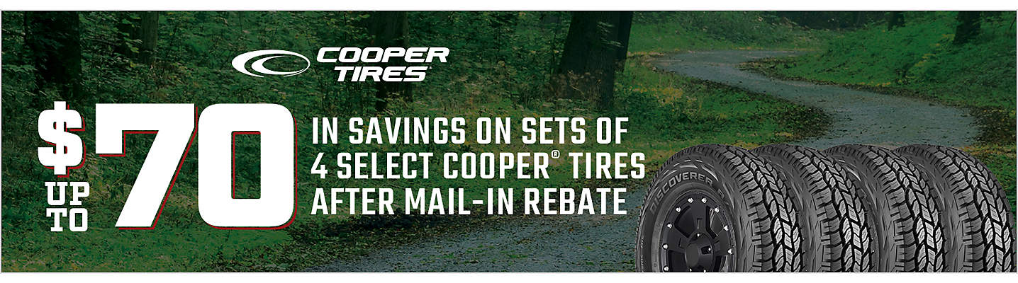 Cooper up to $70 Mail-in Rebate