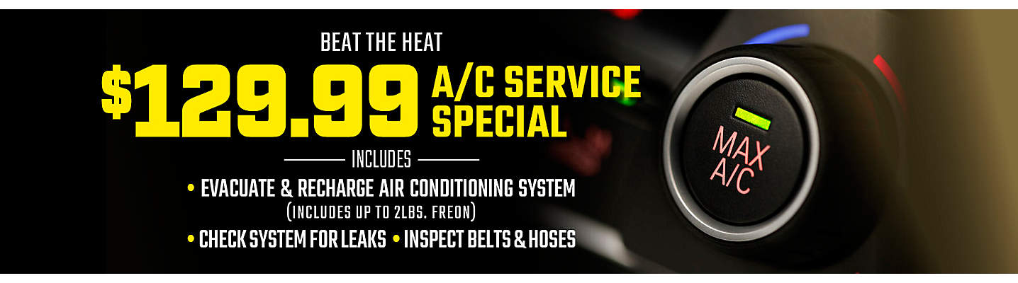 A/C Service Special – Only $129.99!