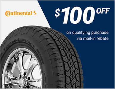 $100 off Continental® tires!