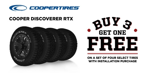 Buy 3 Get 1 Free Cooper Discoverer RTX