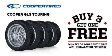 Buy 3 Get 1 Free Cooper GLS Touring Tires