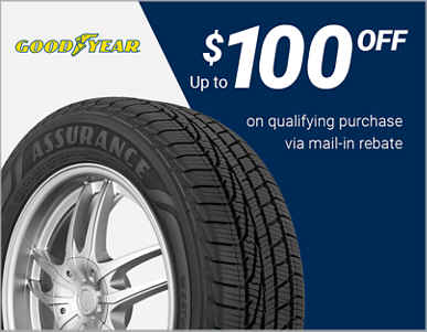 $100 off Goodyear® tires!