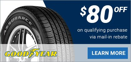 Goodyear Promo Code for $80 off at Tire America