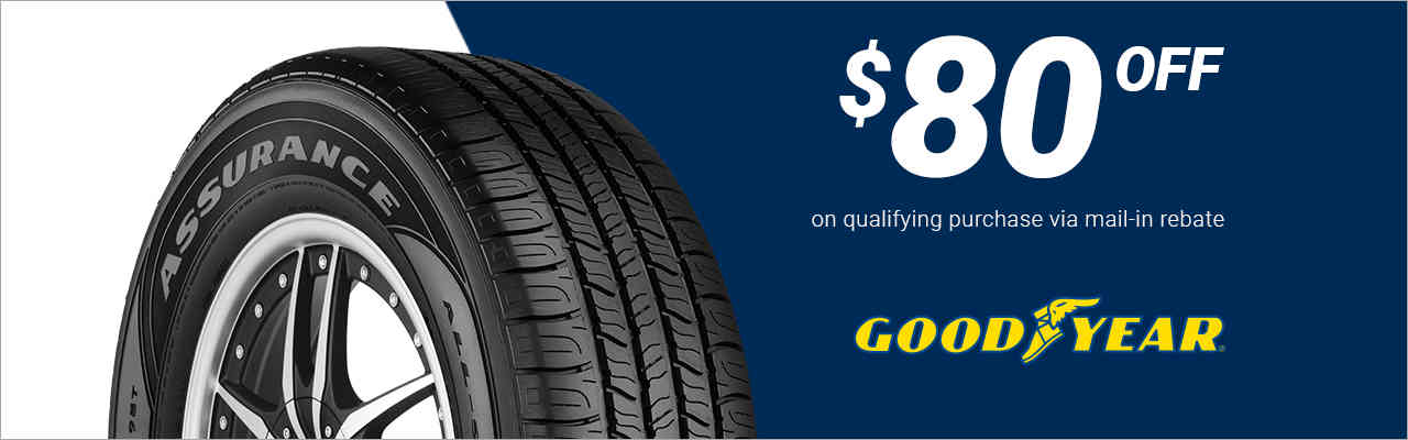 $80 off Goodyear® tires!