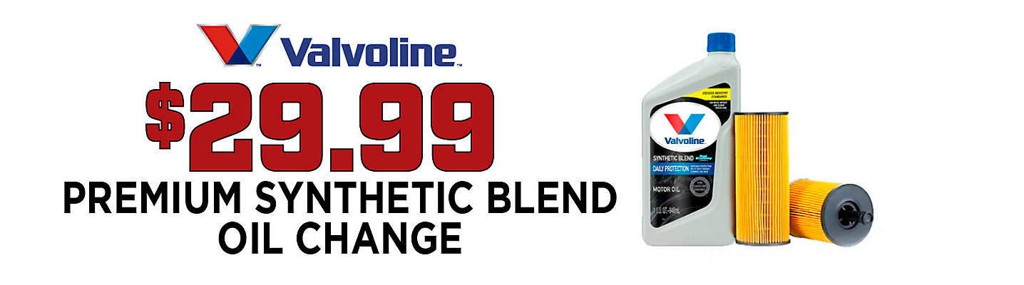 $29.99 Synthetic Blend Oil & Filter Change