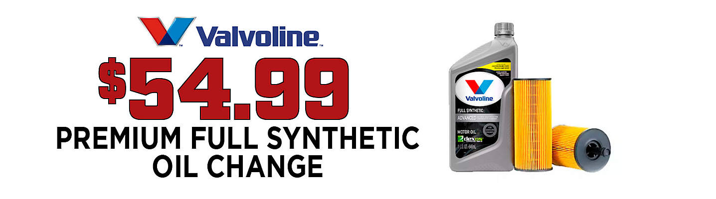 Full Synthetic Oil & Filter Change – Only $54.99!