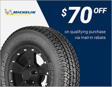 $70 Off Michelin® tires!