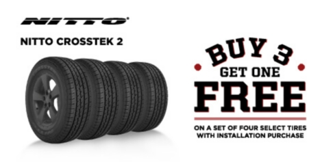 Buy 3 Get 1 Free Nitto Crosstek 2 Tires
