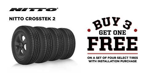 Buy 3 Get 1 Free Nitto Crosstek 2 Tires
