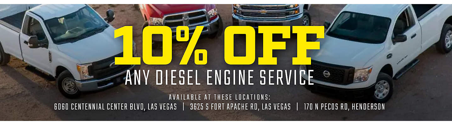 10% Off Any Diesel Engine Service