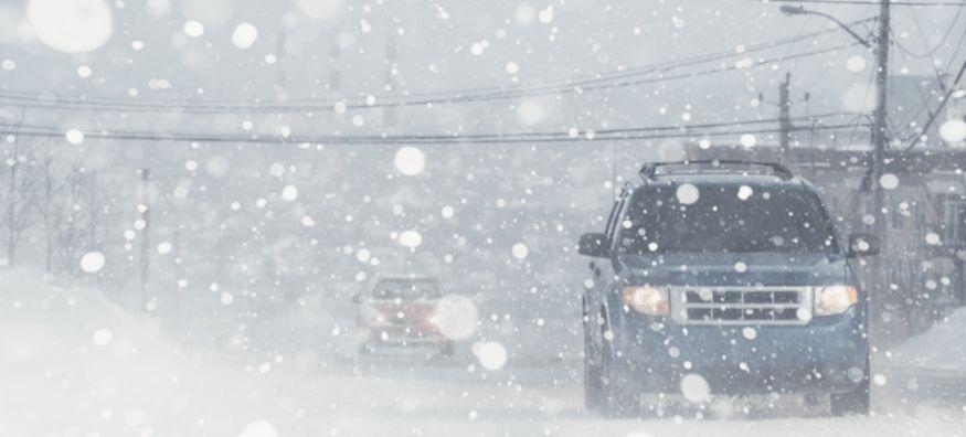 Vehicles in snow   Tire America