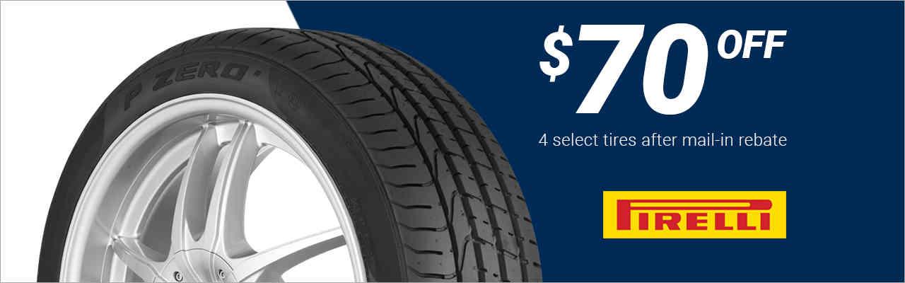 $70 off Pirelli® tires!