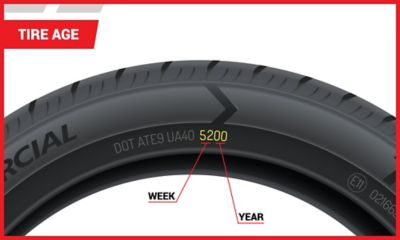 Image of tire sidewall displaying tire date code | Tire America