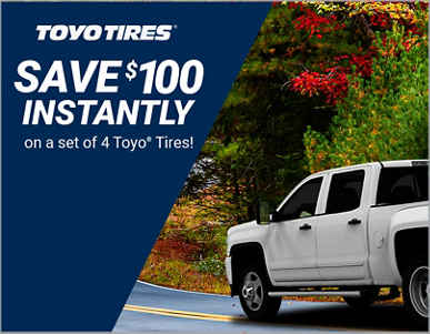 TireAmerica.com: Save $100 Instantly on a set of 4 Toyo Tires
