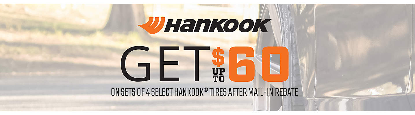 Hankook up to $60 Mail-in Rebate