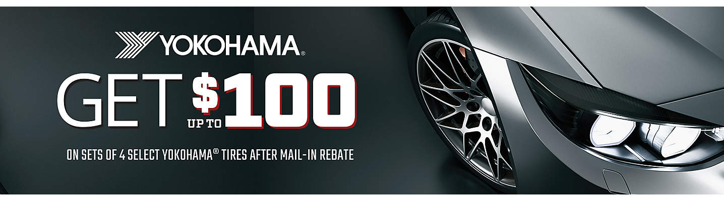 Yokohama up to $100 Mail-in Rebate