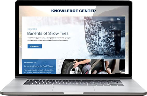 Laptop showing Knowledge Center